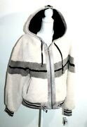 Blanc Noir Womenand039s Jacket Faux Shearling Hoody Us Large