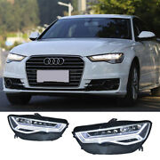 2pcs For Audi A6 Head Lights Assembly 2016-2018 All Led High/low Beam Led Drl