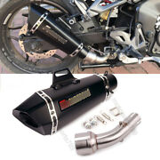 For Yamaha Yzf R3 R25 Mt03 Middle Mid Pipe Exhaust Tips Silencer Muffler Slip On
