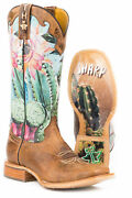 Tin Haul Womens Multi-color Leather Cactilicious Cowboy Boots