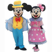 Hot Adult Suit Size Mickey Mouse And Minnie Mouse Mascot Costume Navy Clothing