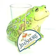 Heartwood Creek 2017 Jim Shore Frog Candle Holder - New In Box