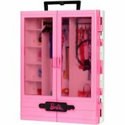 Barbie Fashionistas Ultimate Dool Closet Pink Accessory Playset Portable Toy Kid