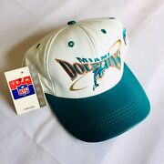 Miami Dolphins Deadstock Made In Usa Leather Snapback Vintage Nwt