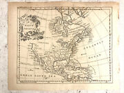 Antique Map Of North America United States Colonies Cartography