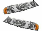 For 1998-2002 Lincoln Town Car Headlight Assembly Set 27443jg 2001 1999 2000