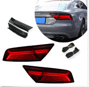 For Audi A7 Led Tail Light 2012-2017 Sequential Signal Smoke Instead Of Oem