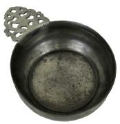 Antique Early New England American Colonial Primitive Pewter Porringer Bowl Dish
