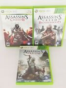 Lot Of 3 Xbox 360 Assassins Creed Collection 2 3 And Brotherhood Video Games