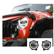 For Jeep Wrangler Led Headlights Led Drl 18-19 Replace Oem Halogen Sequential