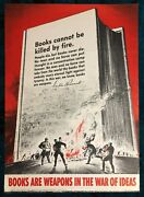 Wwii Ww2 Original War Poster Books Are Weapons In War Of Ideas Book Burning Fdr