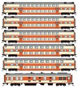 N27 China Railway Syz25b Double Deck 6 Units Coach Set With Interior Lights