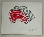 Roy Lichtenstein Painting Signed And Stamped Hand Carved