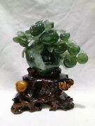12 Inch Natural Xiuyan Jade Handcarved Home Decorate Safe Fortune Apple Statue