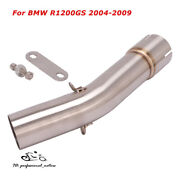 For Bmw R1200gs Adv 2004-2009 Motor Exhaust Mid Link Pipe Slip On 51mm Muffler