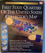 First State Quarters Of The United States Collectors Map Album As Seen On Tv Nib