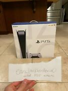 Unopened Sony Playstation 5 Console Disc Edition Console Brand New In Box
