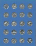 1945-1986 Canada 5c 19 Assorted 5 Cent Canadian Coins