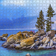 Lake Tahoe Winter 125 Piece Small Wooden Jigsaw Puzzle | Zen Puzzles