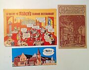 Vintage 1960and039s Lot Of 3 Maderand039s In Old Milwaukee Restaurant Postcards History Wi
