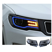 For Jeep Compass Led Headlights Led Drl 2018-2020 Replace Oem Halogen Sequential