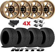 Method Bronze Wheels Rims Tires 265 70 17 Nitto At G2 Fuel Rhino F-150