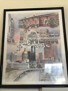 Georgia Atlanta Vintage Sold Out Limited Edition Anni Moller Print 17x21 Aal1