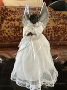 Vintage Black And Tan Dachsund Angel Tree Topper