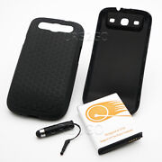 100 New 7500ma Grade A+ Extended Battery Cover Case For Samsung Galaxy S3 S960l