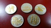 Complete Unc. 2001 Statehood Quarters 5-coin Set Gold And Silver Highlighted Cased