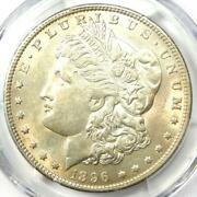 1896-o Morgan Silver Dollar 1 - Pcgs Uncirculated Detail - Rare Date In Unc/ms