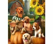 Dog Pumpkin Diamond Paintings Embroidery Cross Stitch Art Crafts New 5d Painting