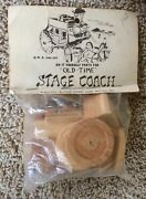 Old Time Stage Coach Wagon Diy Wooden Block Parts Model Kit Vintage Wells Fargo
