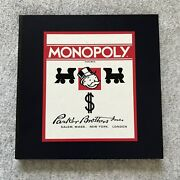 1935 Commemorative Monopoly Game Board Only 1985 Vintage Replacement Parts Rare
