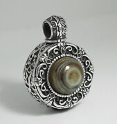 Snuff Necklace. Silver Snuff Bottle/container/jar/vial/jug Silver Chain,