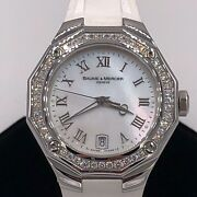 Baume And Mercier Riviera Mop Mother Of Pearl Dial Diamond Watch 65584