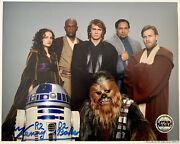 Kenny Baker Hand Signed Star Wars 10x8 Opix Shielded Photograph In Person Coa