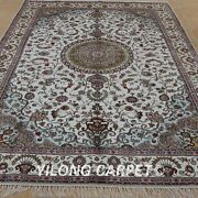 Yilong 6and039x9and039 Handknotted Silk Rugs Furniture Sofa Match Indoor Carpets 1230