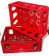2 Vintage Coca Cola / Coke Red Plastic Stackable Crates / Trays / Carriers