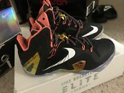 Lebron Xi 11 Elite Gold Pack 642846 002 Menand039s Basketball Shoes Size 7.5