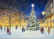 Evening Lights Deluxe Boxed Holiday Cards Christmas By Peter Pauper Press New