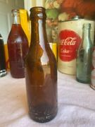 M37 1900and039s Coca Cola Amber Straight Sided Bottle Fayetteville Tenn Tn