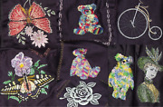 Patchwork Embroidered Fabric Textile Squares Or Handmade Baby Blanket Crib Quilt