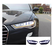 For Audi A6 Led Headlights Led Drl 2012-2018 Replace Oem Headlight Sequential