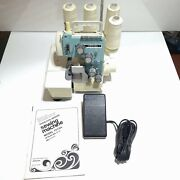Vintage Jc Penny Nelco Overlock-serger 7015a Sewing Machine With Ownerand039s Manual