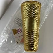 Starbucks Gold Studded Tumbler. Venti.new With Tags. Overseas Release. Htf.