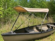 Beige 3and039 By 5and039 Canoe / Kayak Sun Shade/canopy By Cypress Rowe Outfitters