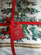 New Williams-sonoma Twas The Night Before Christmas Santa Tablecloth 70 In Squar