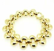 Vintage Bracelet Yearsand039 60 In Yellow Gold Solid 18k Made In Italy -