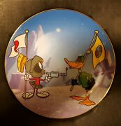 Morgue Sale Warner Brothers Marvin The Martian Duck Dodgers Plate Retired